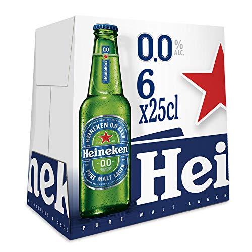 Heineken 00 Beer - Pack of 6 Bottles x 250 ml - Total: 1.5 L