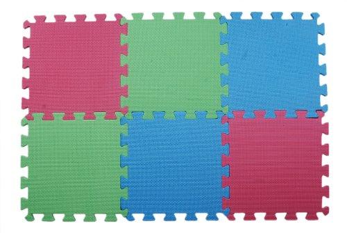 KnitPro KP10874 Tapis de Dentelle bloquant (Paquet de 9), Bois, Multicolore, 30 x 0,5 x 7,5 cm