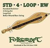 Folkcraft Mountain Dulcimer String Set, Loop Ends (.011' .011' .013' .024'RW)