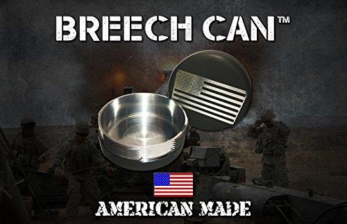 The Breech Can™ OD GREEN An Airtight Interrupted Screw container, Fashioned after an artillery Breech.