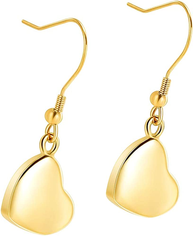Imrsanl Heart Cremation Jewelry Special Max 47% OFF sale item Drop for Earrings Ashes Dangle