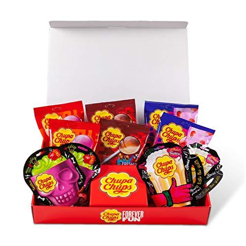 Chupa Chups Lecca Lecca Forever Fun Box, Scatola Regalo con Lollipop Gusti Assortiti, Confezione Contenente 10 Buste di Lollipops Monopezzi