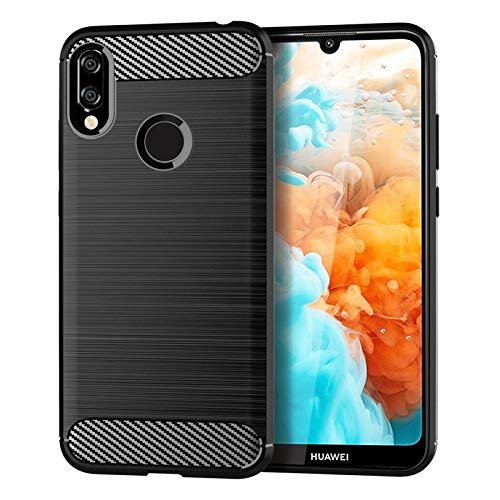 ZIXIXI for Huawei Y6 Prize 2019 Mobile Shell for Huawei Y6 Prime 2019 Cover Brushed Silicone Anti-Fall Piano Shell (Color : Black, Size : Huawei Y6 Prime 2019)