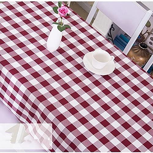 marca blanca Mantel de vinilo resistente para mesa rectangular de fácil limpieza, a prueba de aceite, impermeable, resistente a las manchas, a prueba de moho, redondo, 120 cm
