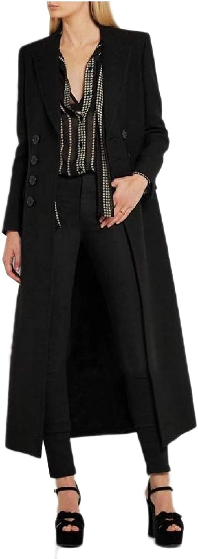 Doanpa Womens Classics Notch Lapel Wool Blends Double Button Woolen Coat