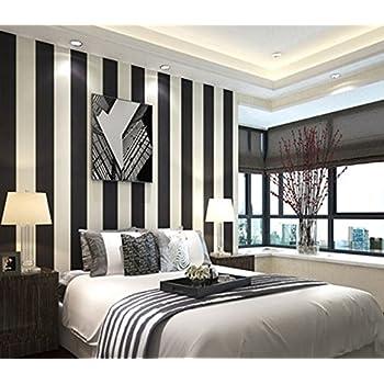 Black White Stripe Wallpaper 1000x53cm Pvc Premium Wallpaper Wall Mural Wall Decoration Art Print Color A Size 1000x53cm Amazon Co Uk Diy Tools