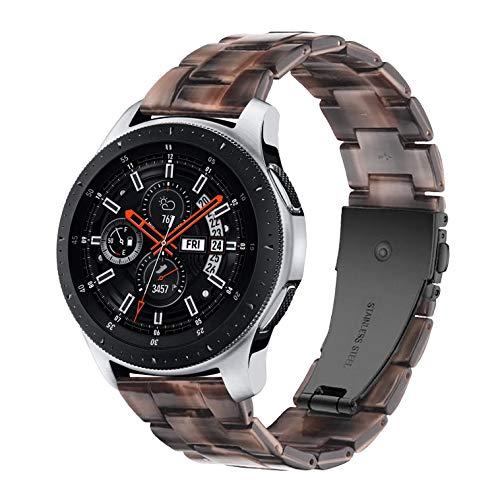 Songsier Kompatibel mit Galaxy Watch 3 45mm Armband/Gear S3 Frontier/Galaxy Watch 46mm/Gear 2 /Huawei Watch GT2 46mm/Watch GT 46mm/Moto 360/, 22mm Harz Ersatzarmband Uhrenarmbänder