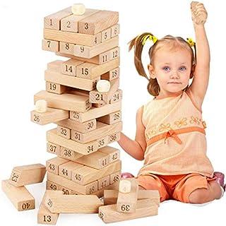 جوده برج الزان خشبيه كتل البناء الدومينو لعبه مسليه ألعاب الأطفال هديه