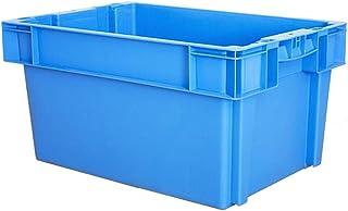 Épaissir Plastique Boîte logistique, Bleu Empilable Enfichable Qualité Alimentaire Panier de boîte