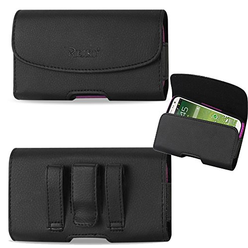 Horizontal Executive Leather Case with Magnetic Closure, Belt Clip and Belt Loops for iPhone 5s, iPhone 5c with an UAG Urban Armor Gear Case on it.