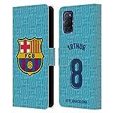 Head Case Designs Licenciado Oficialmente FC Barcelona Arturo Melo 2019/20 Jugadores Tercer Kit Grupo 1 Carcasa de Cuero Tipo Libro Compatible con OPPO A72