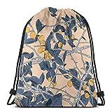 Yuanmeiju Marrakesh Shoulder Bolsa con cordón Backpack String Bags School Rucksack Gym Sport Bag Lightweight