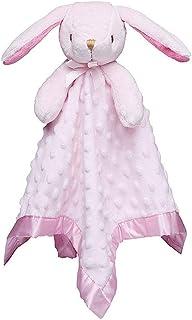 Pro Goleem Bunny Loveys for Babies Security Blanket Girl Newborn Soft Pink Lovie Gift for Infant and Toddler