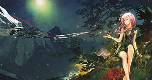 Guilty Crown Poster Print,Anime Wall Decoration,Girl Art Poster,Pink Hair Art Print,Night Artwork,Anime Watercolor Print Size 24''x32'' (61x81 cm)