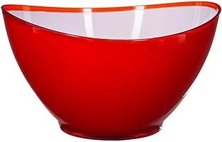 Secret de Gourmet - Saladier rond Wave rouge 23 cm