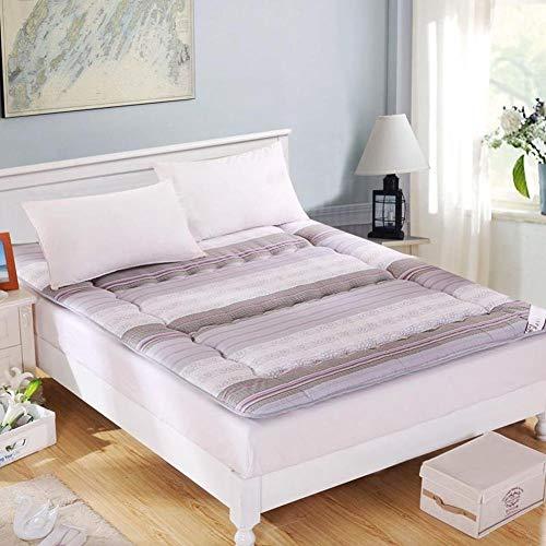 YLCJ opvouwbare matras met strepen, comfortabele matras van Japanse tatami voor matrassen Ultra zacht -B 180 x 200 cm (71 x 79 inch)