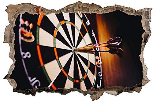 Dart Pfeile Scheibe Bulleye Sport Wandtattoo Wandsticker Wandaufkleber D1943 Größe 40 cm x 60 cm