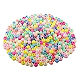HUASUN Perline Colorate 400pcs 10mm Perline Pony Perle Acrilico Perline, Perline per capelli, per...