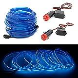 2x1m EL Wire Leuchtschnur Band Lichtschlauch Leucht Schnüre Neon Draht Light Lampe...