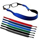 kuou 6 Pieces Sports Sunglasses Strap, Stretchy Floating Glasses Strap Neoprene Eyewear Retainer