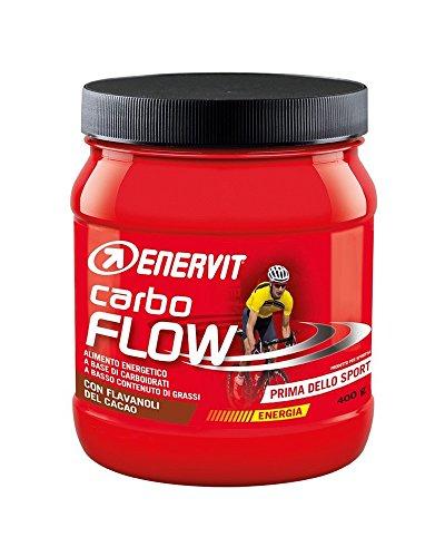ENERVIT SPORT Carbo Flow | Kohlenhydrat Getränke Pulver Schoko Shake | High Carb Sport Drink | Sport Getränk mit Schoko Flavor | 400g Dose (7 Portionen)