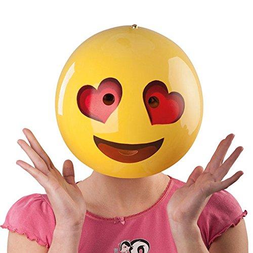 Masque Emoticone Amoureux Jaune Adulte - Smile Deguisement Accessoire - 889