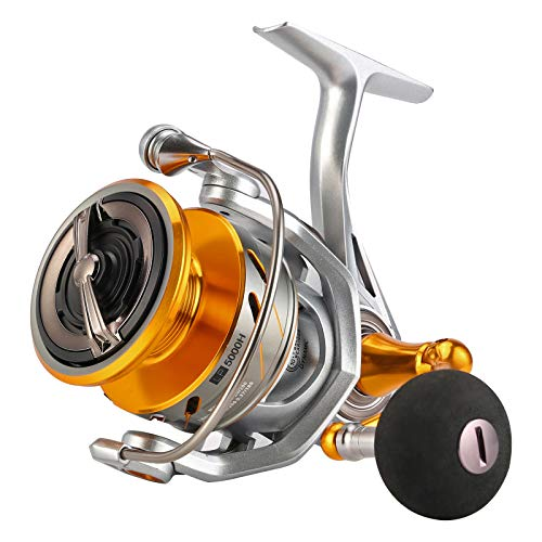 SeaKnight Rapid II Saltwater Spinning Reel, 4.7:1,6.2:1 High Speed, Max Drag 33Lbs, Smooth Fresh and Saltwater Fishing Reel