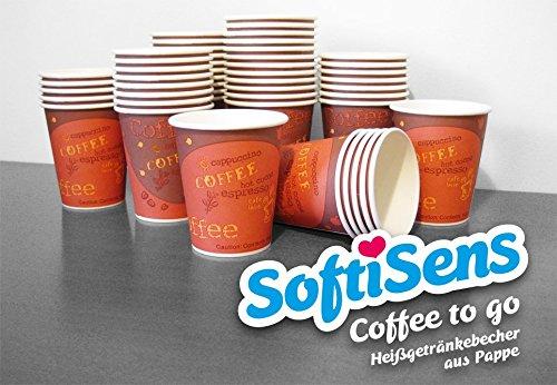 hochwertige Kaffeebecher, Pappbecher, Hartpapierbecher, Coffee to go Becher (1.000, 200 ml)