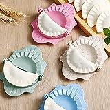 Dumpling Maker Dumpling Mold, for Make Pie Ravioli Chinese Dumpling Pastry's Dumpling Mould, Lenmu Mica Wavy-Shaped Dumpling Wrappers Tool (4 Pack)