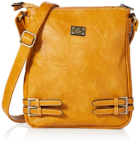 Bessie London Damen Crossbody-Umhängetasche, kastanienbraun, ONE Size