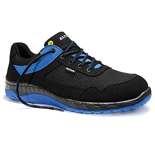 ELTEN Lonny S1 Sicherheitsschuhe mit Perfekter Dämpfung, Farbe:schwarz/blau, Schuhgröße:43 (UK 8.5)
