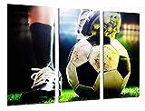 Cuadros Cámara Poster Fotográfico Motivacion Deporte Futbol, Balon, Pelota, Multicolor, 97 x 62 cm XXL