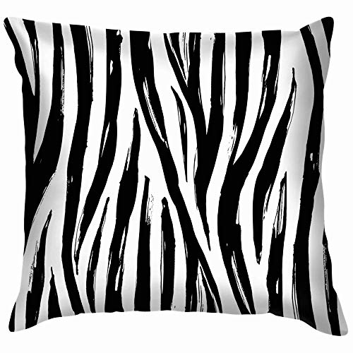Qian Mu888 Zebra Print Animals Wildlife Nature Throw Pillows Covers Accent Home Sofa Cushion Cover Pillowcase Gift Decorative 20X20 Inch