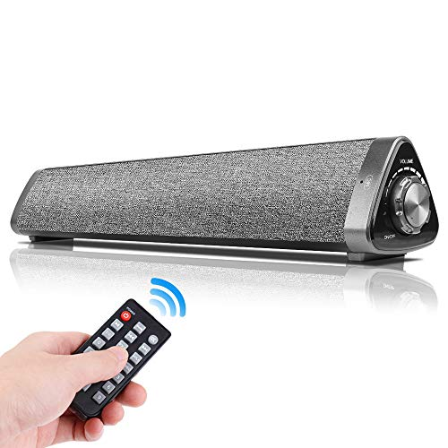 YOUXIU Sound Bar Wired and Wireless Home Theater TV Stereo Speaker,3D Surround Sound Speaker Bar, 2 X 5W Mini Sound bar Built-in Subwoofers for Phones/Tablets/PC/Desktop