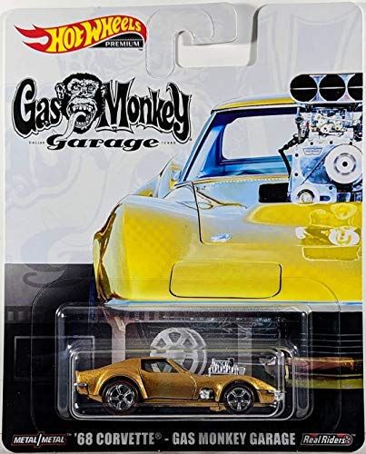 Hot Wheels Premium ´68 Chevrolet Corvette Gas Monkey Garage Real Riders 1:64