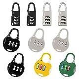 Equipaje Locks Seguridad Candado de Viaje,10pcs Candado de Combinación Coloridos,Candados de Seguridad de 3 Dígitos para Maletas de Viaje Estuche para casilleros Mochila de Gimnasia Paquete