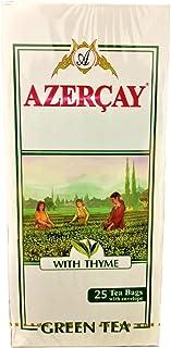 Green Tea with Thyme from Azerbaijan 25 Tea Bags Envelope 50g (Azercay)