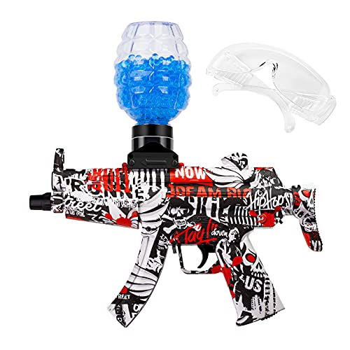 Gel Ball Blaster Toy, Splatter Ball Gun with Goggles and 10000 Water Beads, Electric Water Gun,...