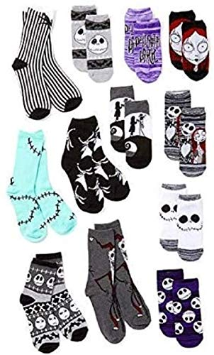 Disney unisex-adult's Nightmare Before Christmas 12 Days Advent Box, assorted, Fits Sock Size 9-11 Fits Shoe Size 4-10.5 (Girls/Womens) & Fits Shoe Size 4-9 (Boys)