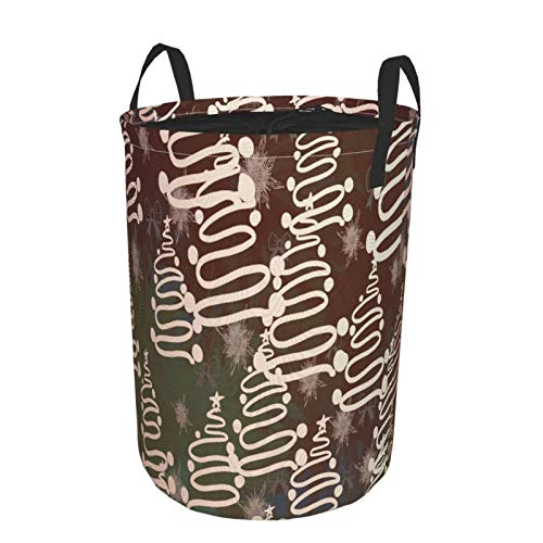 Dirty Clothes Basket Special Santa Claus Storage Bag Laundry Hamper Bag, with Carry Handles Portable Laundry Basket for Home, Office, Bedroom, Clothes, Toys