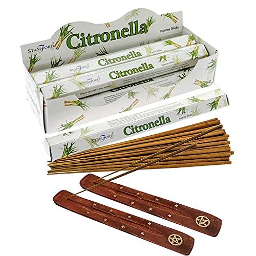 Citronella Incense Sticks: 120 incense sticks with 2 x Ash Catchers with...