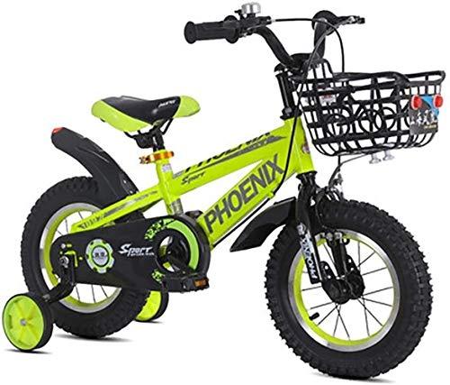 LSZ 12 14 16 18 Pulgadas Freestyle Pedal de niños Bicicleta con Ruedas de Entrenamiento Rueda Inflable Ajustable Ajustable de Acero de Alto Carbono niña Bicicleta para niños