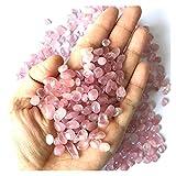 YSJJJBR Pietre grezze 100g 8-12mm Natural Pink Crystal Grevel Rose Quartz Crystal Grevel Stone Gonna Skirt Chips Lucky Healing Pietre Naturali e minerali (Farbe : 8-12mm)