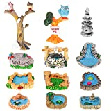 12 Miniaturas de Hadas de Jardín Patio Figuras de...