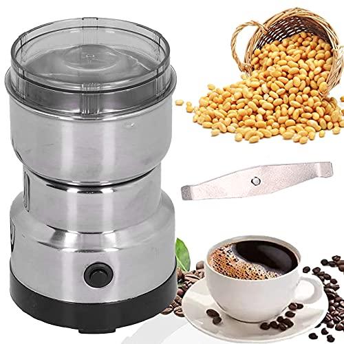 COITROZR Molinillo de Café Eléctrico, Molino Cafe Cereales con Cuchillas Acero Inoxidable,150W Potencia Alta, AC 220-240V para Granos de Café Nueces Especias Cereales Muele Rápido,B