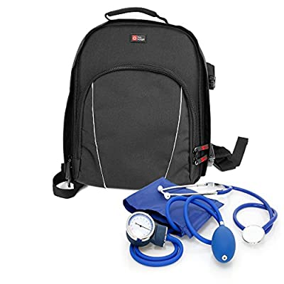 DURAGADGET Nurse/GP/Doctor Medical Kit Backpack - Compatible with Nursing/Home Visits Medical Supplies & Equipment - With Adjustable Interior Dividers (300 x 240 x 110 mm) from DURAGADGET