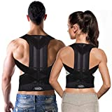 Adjustable Back Brace Posture Corrector for Women Men Kids – Relieve Back Pain