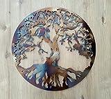 MetalArtWallDecor Arbre de Vie, la Chaleur de Couleur 59,7cm Décoration Murale en métal