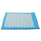 GOMYIE Akupressurmatte Anself Akupressurmatte Gesundheitspflege Yogamatte Stress abbauen Schmerzen Akupunktur Massage Matte Kissen (blau) -
