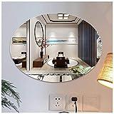 Y&J Miroir Ovale Mural, Miroir sans Cadre, Simplicité Moderne, pour Salle de Bain, Chambre, Salon, Couloir, Maquillage, Suspendu Horizontal ou Vertical